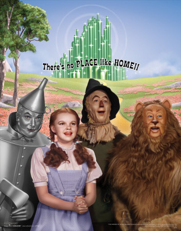 The Wizard of Oz: No Place Like Home Glitter Art Print