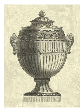 Crackled Empire Urn I Giclee Print