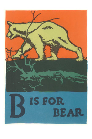 B is for Bear Premium Poster