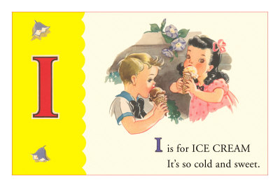 I is for Ice Cream Premium Poster