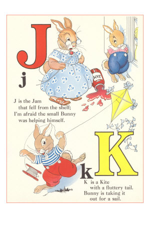 J is for Jam, K is for Kite Premium Poster