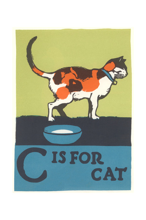C is for Cat Premium Poster