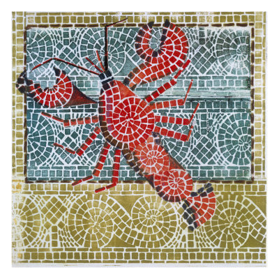 Mosaic Lobster Giclee Print by Susan Gillette