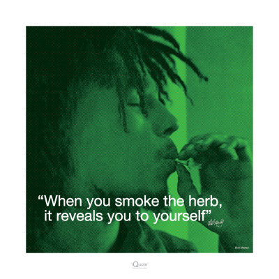 weed marijuana bob marley quote poster photo