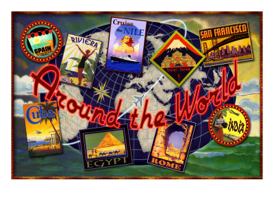 Around the World Tours Giclee Print by Kate Ward Thacker