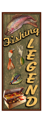 Fishing Legend Giclee Print by Kate Ward Thacker