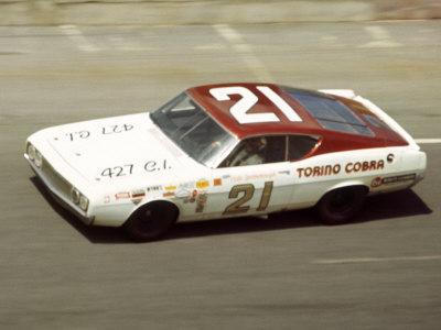 Vintage Ford Torino Stock Car Race Daytona Photographic Print