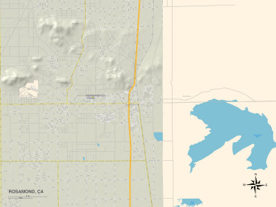 Political Map of Rosamond, CA Prints at AllPosters.