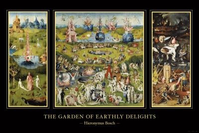 Lustarnas trädgård, ca 1504 Affischer av Hieronymus Bosch
