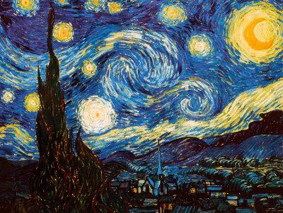 Stjernenatten, ca.1889 Posters af Vincent van Gogh