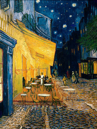 The Caf Terrace on the Place du Forum, Arles, at Night, c.1888 Art Print