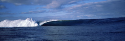 Rough Waves in the Sea, Tahiti, French Polynesia Photographic Print by  Panoramic Images