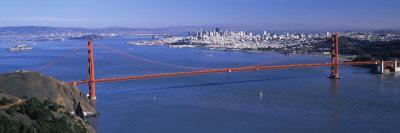 View of a Suspension Bridge, Golden Gate Bridge, San Francisco, California, USA Photographic Print by  Panoramic Images