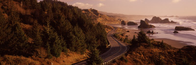 Highway Along a Coast, Highway 101, Pacific Coastline, Oregon, USA Photographic Print by  Panoramic Images