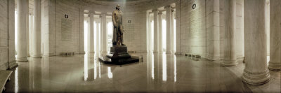 Statue of Thomas Jefferson in a Memorial, Jefferson Memorial, Washington DC, USA Photographic Print by  Panoramic Images