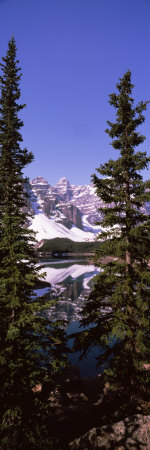 Lake in Front of Mountains, Banff, Alberta, Canada Photographic Print by  Panoramic Images