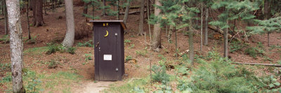 Outhouse in a Forest, Adirondack Mountains, New York State, USA Photographic Print by  Panoramic Images