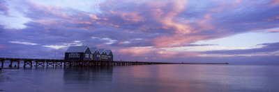 Jetty over the Sea, Busselton Jetty, Busselton, Western Australia, Australia Photographic Print by  Panoramic Images