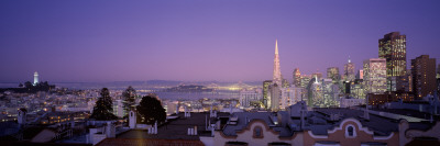View of a Cityscape from Nob Hill, San Francisco, California, USA Photographic Print