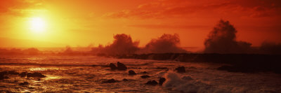 Waves Breaking on Rocks in the Sea, Three Tables, North Shore, Oahu, Hawaii, USA Photographic Print by  Panoramic Images