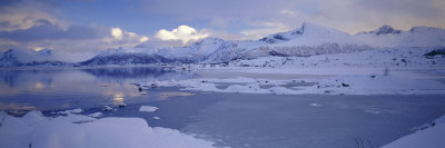 Clouds over Mountains, Lofoten, Nordland County, Norway Photographic Print by  Panoramic Images
