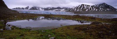 Ice Floes in the Sea with a Glacier in the Background, Norway Photographic Print by  Panoramic Images