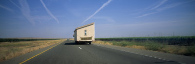 Mobile Home Moving on a Road, Interstate 5, Central Valley, California, USA Photographic Print by  Panoramic Images