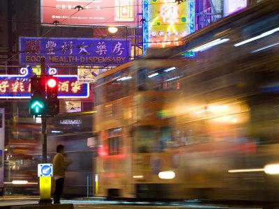 Hong Kong, Trams, China Photographic Print by Peter Adams
