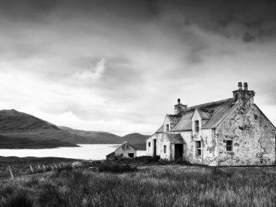 Deserted Farm Near Arivruach, Isle of Lewis, Hebrides, Scotland, UK Photographic Print by Nadia Isakova