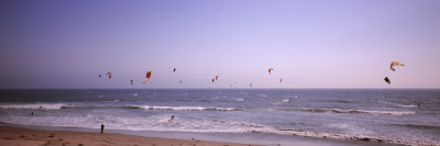 Kite Surfers over the Sea, Waddell Beach, Waddell Creek, Santa Cruz County, California, USA Photographic Print by  Panoramic Images