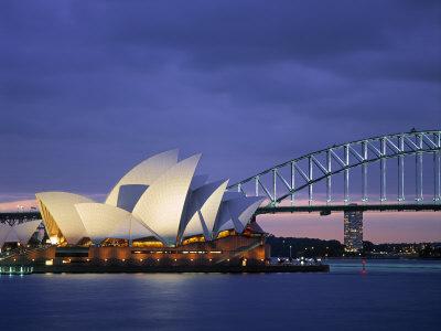 Opera House, Sydney, Nsw, Australia Photographic Print by Walter Bibikow