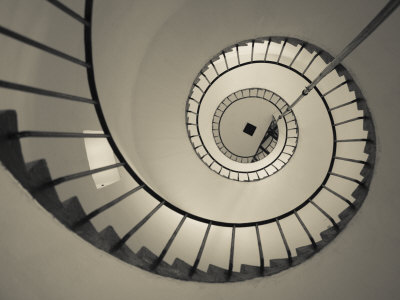 La Paloma, Atlantic Ocean Resort Town, Cabo Santa Maria Lighthouse, Interior Stairs, Uruguay Photographic Print