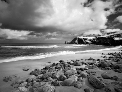 Infrared Image of Dalmore Beach, Isle of Lewis, Hebrides, Scotland, UK Photographie