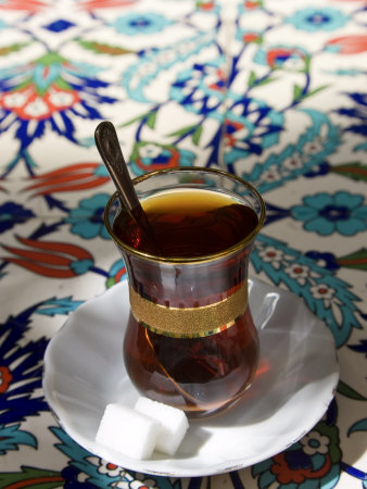 Turkish Tea, Istanbul, Turkey Photographic Print by Peter Adams
