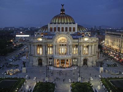 Mexico City, Palacio De Bellas Artes Is the Premier Opera House of Mexico City, Mexico Photographic Print by David Bank