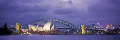 Opera House and Harbour Bridge, Sydney, New South Wales, Australia Photographic Print by Peter Adams