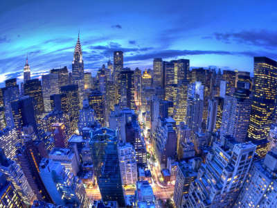 Chrysler Building and Midtown Manhattan Skyline, New York City, USA Photographic Print