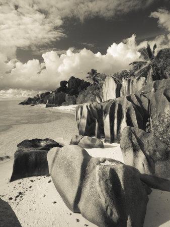 Seychelles, La Digue Island, L'Union Estate Plantation, Anse Source D'Argent Beach Photographic Print by Walter Bibikow