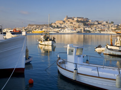 Harbour and Old Town, Eivissa or Ibiza Town, Ibiza, Balearic Islands, Spain Photographic Print by Peter Adams
