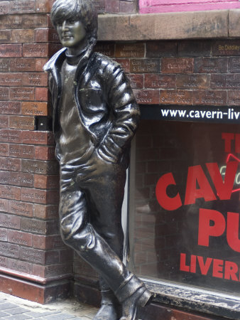 Statue of John Lennon Near the Original Cavern Club, Matthew Street, Liverpool, Merseyside Photographic Print by Ethel Davies
