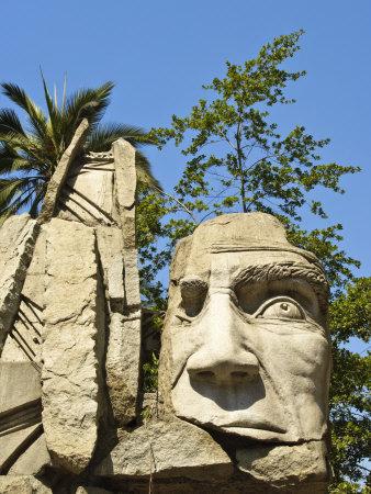 Maphuce Statue, Plaza De Armas, Santiago, Chile, South America Photographic Print by Michael DeFreitas