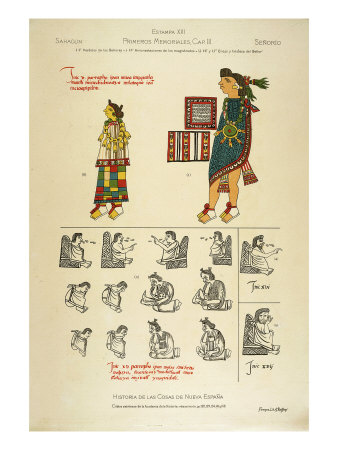 Costume Worn by Men and Women, from the Florentine codex, c. 1570 Giclee Print