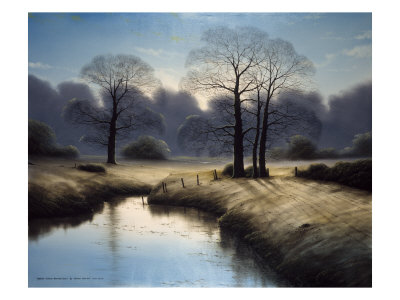 England's Autumn November Dawn Giclee Print by Michael John Hill