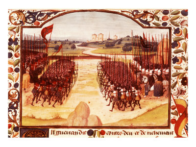 Battle of Agincourt, English army of King Henry V defeated French under Charles d'Albret Giclee Print