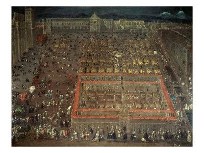 Plaza Mayor, Mexico City Giclee Print by Cristabel De Villalpando