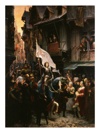 Entrance of Saint Joan of Arc, 1412-31, into Orleans, France Giclee Print by Jean-jacques Scherrer