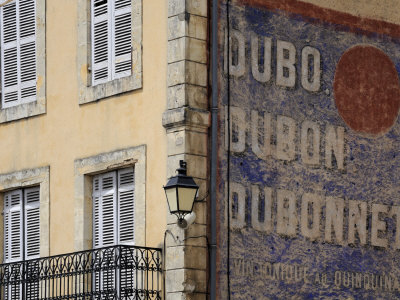 Painted Dubonnet Advert on the Wall of a Building, Belves, Aquitaine, Dordogne, France, Europe Photographic Print by Peter Richardson