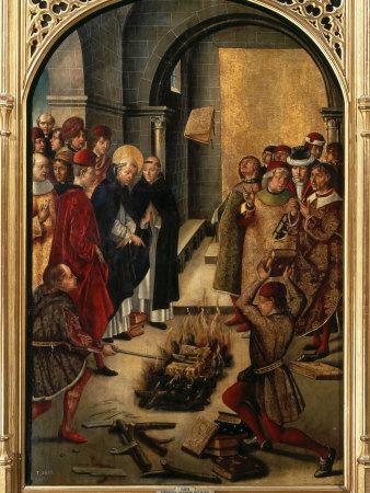 Saint Dominic or Domingo Guzman of Castile, 1170-1221 Founded Dominican Order Fotografisk tryk af Pedro Berruguete