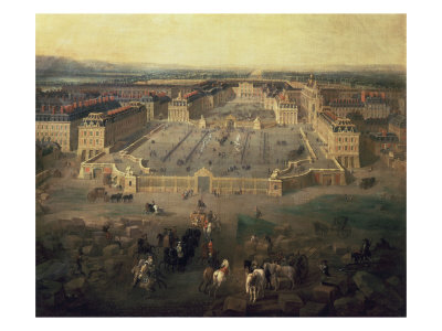 Chateau of Versailles, France, seen from the Place d'Armes, 1722 Giclee Print by Pierre-Denis Martin