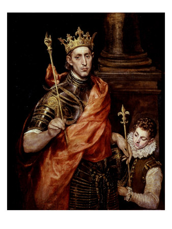 Saint Louis IX 1214-70 King of France Giclee Print by  El Greco